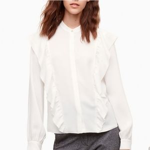 Wilfred Panthere Ruffled White Blouse